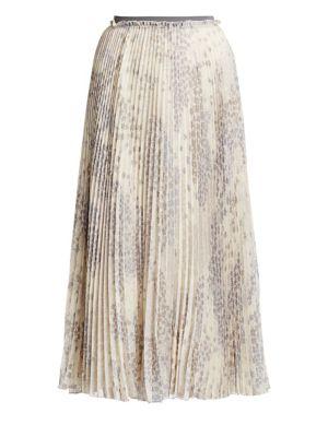 Cascading Star Pleated Midi Skirt