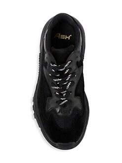 아쉬 어딕트 스니커즈 블랙 ASH Addict Leather & Mesh Sneakers,Black