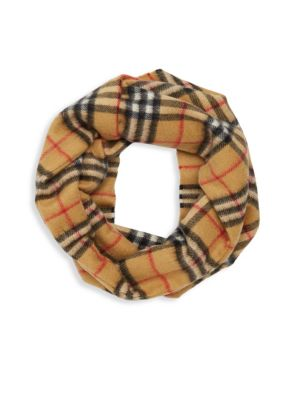 Girl's Patterned Cashmere Scarf