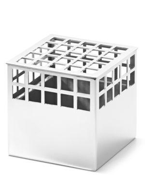 Small Matrix Stainless Steel Cube Vase