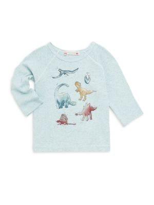 Baby Boy's & Little Boy's Long Sleeve Dino Tee