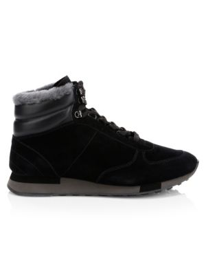 Gregory High-Top Calf Fur Sneakers