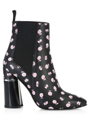 Drum Floral Leather Chelsea Boots