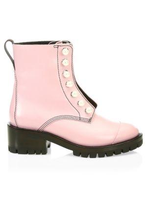 Hayett Leather Combat Boots