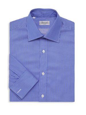 Classic Fit Pique Stripe Dress Shirt