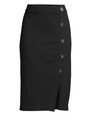 DKNY Pull-On Button Skirt