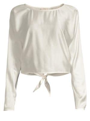 RAMY BROOK Malory Silk Split Back Blouse