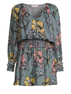 RAMY BROOK Milene Silk Floral Mini Dress