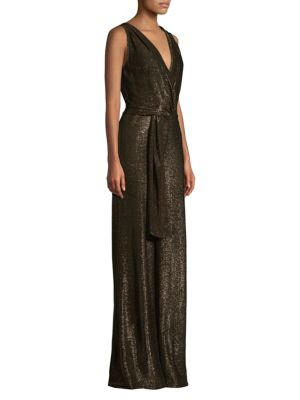 RAMY BROOK Marybeth Shimmer Wrap Front Jumpsuit
