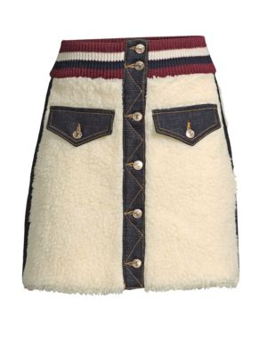 TOMMY HILFIGER COLLECTION Winter Denim Mini Skirt