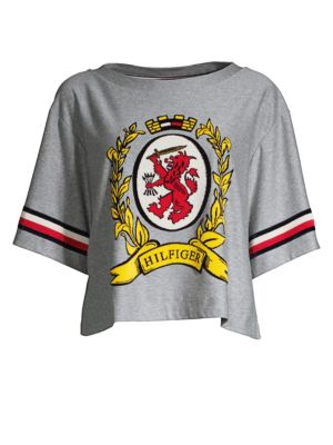 TOMMY HILFIGER COLLECTION Luxury Crest Boxy Tee