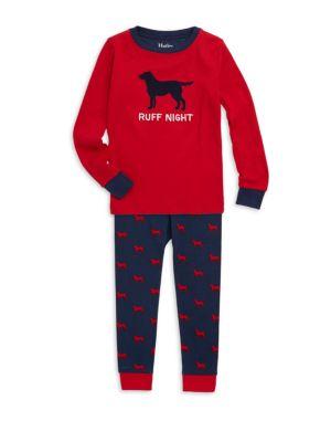 Little Boy's & Boy's Ruff Night Two-Piece Sweatshirt and Pants Pajama Set