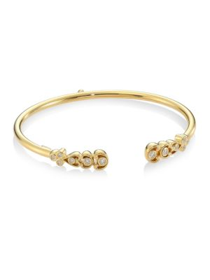Dynasty Bellina 18K Yellow Gold & Diamond Bangle Bracelet