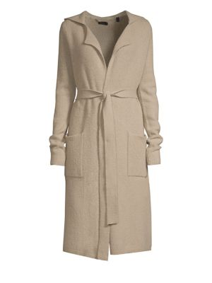 ATM ANTHONY THOMAS MELILLO Hooded Wool-Blend Tie-Front Cardigan