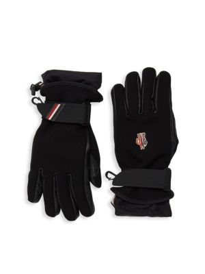 Logo Embroidered Gloves in Black
