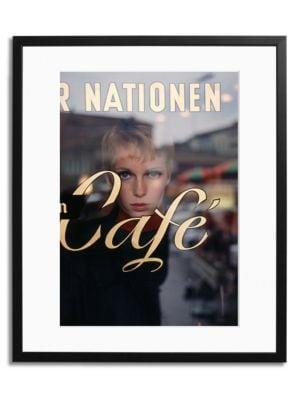 Mia Farrow At The Cafe Print