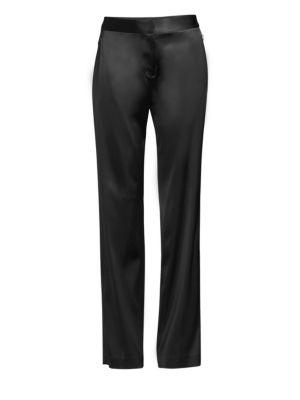 ELIE TAHARI Leena Satin Straight Leg Pants