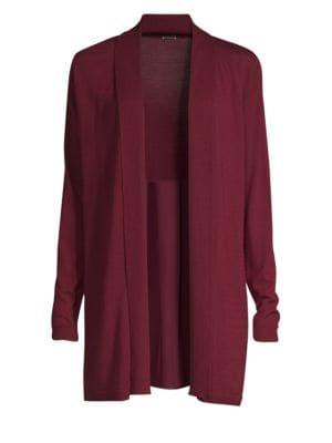 Adele Silk Back Merino Wool Cardigan