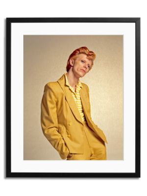 David Bowie in Yellow Suit Framed Photo