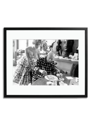 Picasso And Bardot Painting Print