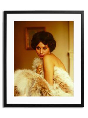 Loren in Fur Framed Photo