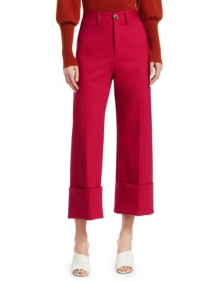 Cuffed Cropped Pants