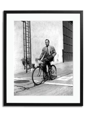 Bogart On A Bicycle Print