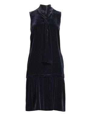 Abbie Velvet Drop Hem Dress