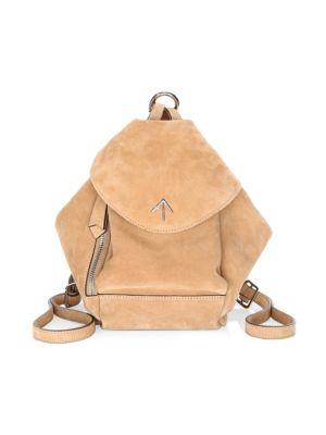 Mini Fernweh Suede Backpack