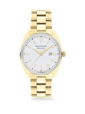 Heritage Series Datron Diamond & Yellow Goldplated Stainless Steel Bracelet Watch