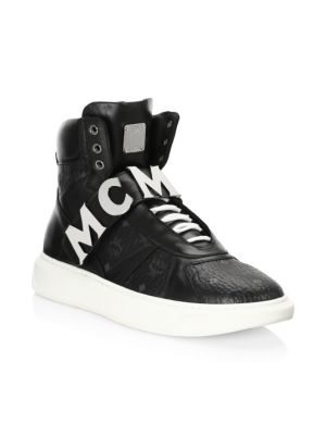MCM High-Top Strap Sneakers