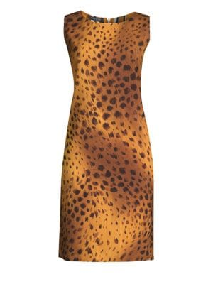 Bibana Reversible Cheetah Print Shift Dress
