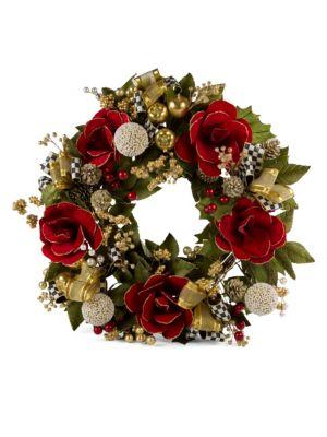 Garnet Magnolia Wreath