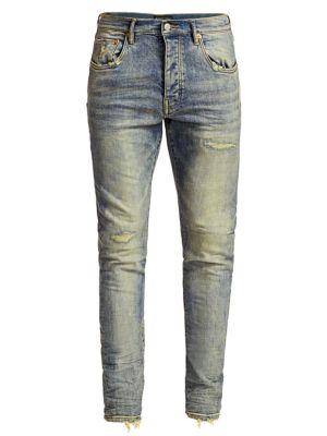 PURPLE Core Slim Distressed Jeans