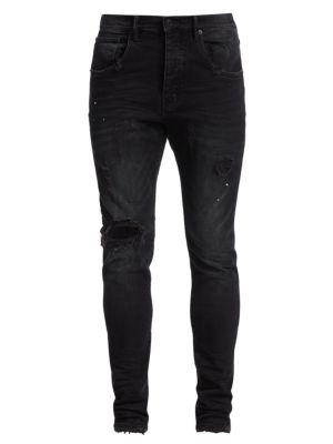 P002 Slim Dropped Fit Repair Jeans