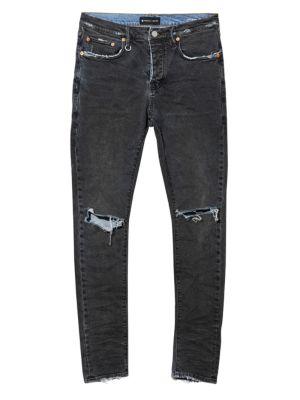 PURPLE Core Slim Ripped Jeans