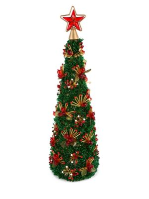 """Savoy Holiday Beaded Tree/18"""""""