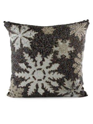 Snowflake Beaded Pillow