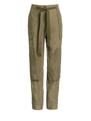 Henri Silk Cropped Cargo Pants