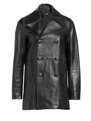 Nella Leather Peacoat