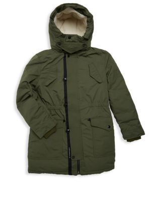 Little Girl's & Girl's Finlay Faux-Shearling Lined Parka