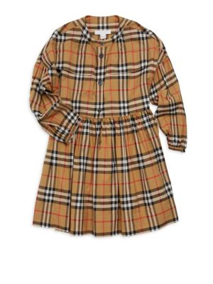 BURBERRY | Little Girl's & Girl's Marny Cotton Check Dress | Goxip