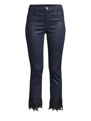 J BRAND Ruby High-Rise Cropped Cigarette Pants