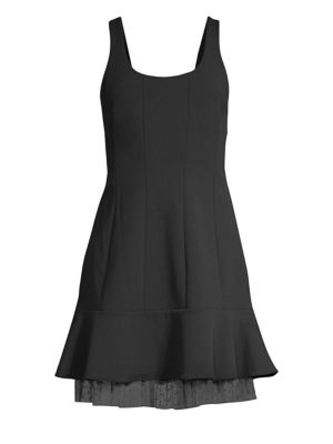 BCBGMAXAZRIA Scoopneck Fit-&-Flare Mini Dress