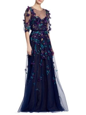 Floral Applique Gown