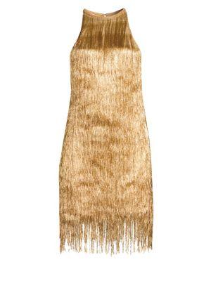 RACHEL ZOE Nova Knit Halter Shift Dress