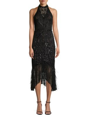 PARKER BLACK Aster Sequined Midi Dress