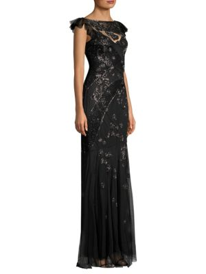 PARKER BLACK Dollie Sequined Overlay Gown
