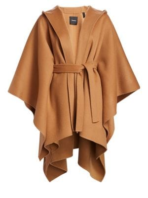Hooded Belted Poncho