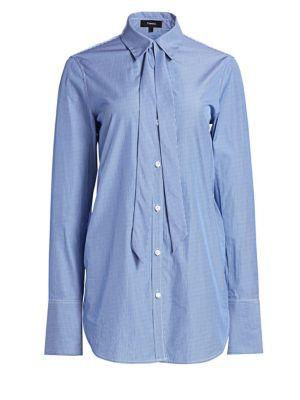 Tuxedo Tie Button-Down Shirt